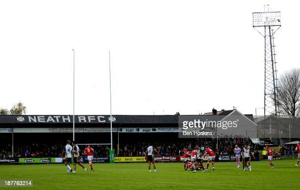 A general view of play during the Rugby World Cup Group D match between Wales and the Cook Islands at The Gnoll on November 10 2013 in Neath Wales