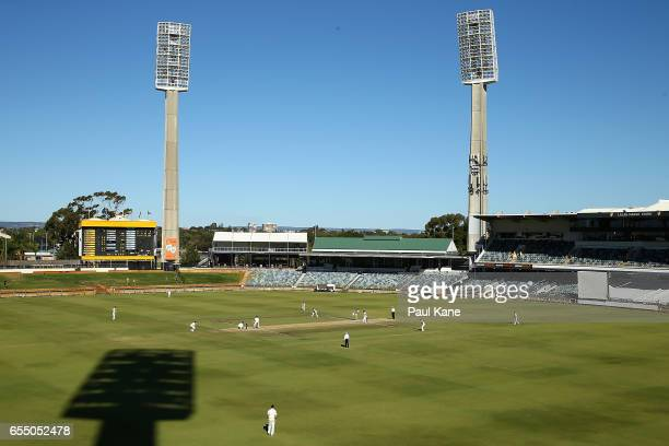 A general view of play during the Sheffield Shield match between Western Australia and New South Wales at WACA on March 19 2017 in Perth Australia