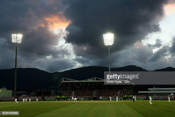 General view of play during the tour match between Cricket Australia XI and Pakistan at Cazaly's Stadium on December 8 2016 in Cairns Australia