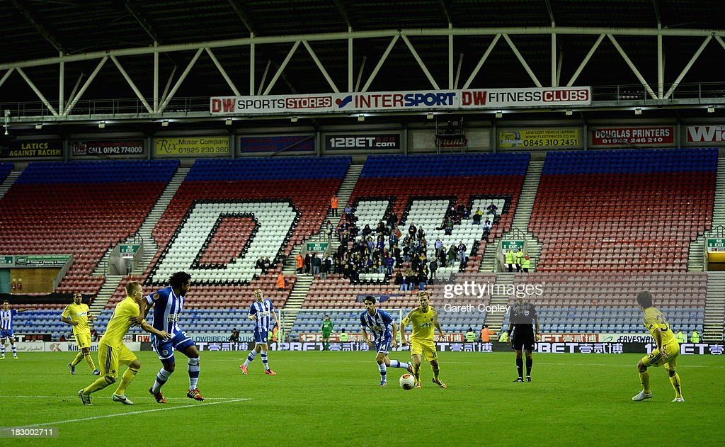 General view of play during the UEFA Europa League match between Wigan and NK Maribor at DW Stadium on October 3, 2013 in Wigan, England.