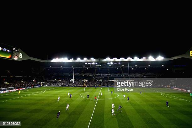 A general view of play during the UEFA Europa League round of 32 second leg match between Tottenham Hotspur and Fiorentina at White Hart Lane on...