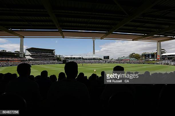 A general view of play during the Victoria Bitter One Day International Series match between Australia and India at WACA on January 12 2016 in Perth...