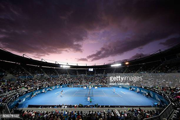 A general view of play during the Women's final between Svetlana Kuznetsova of Russia and Monica Puig of Puerto Rico during day six of the 2016...