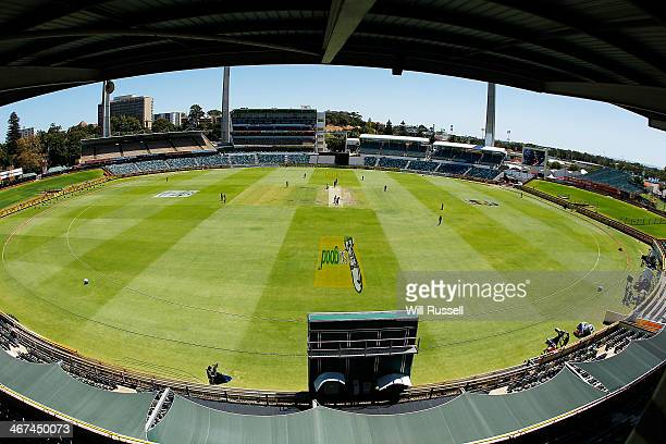 A general view of play during the WT20 Final match between Queensland and the ACT at WACA on February 7 2014 in Perth Australia