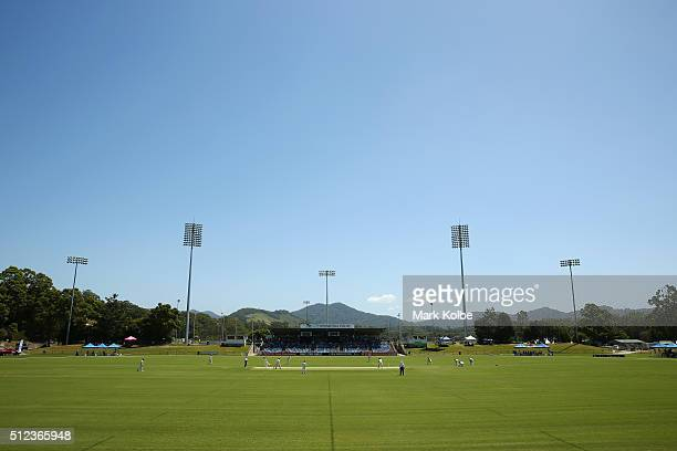A general view of play is seen during day two of the Sheffield Shield match between New South Wales and South Australia at Coffs Harbour...