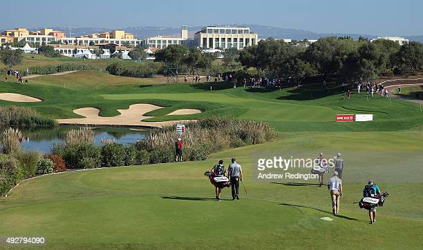 A general view of play on the 13th hole during the first round of the Portugal Masters at Oceanico Victoria Golf Club on October 15 2015 in Albufeira...