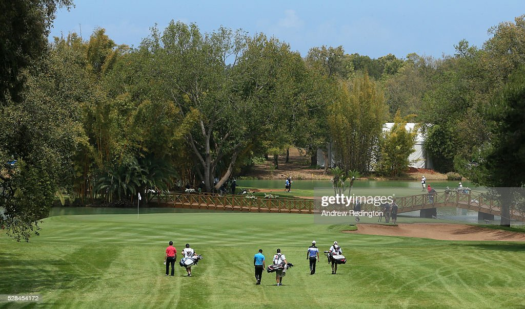 A general view of play on the 17th hole during the first round of the Trophee Hassan II at Royal Golf Dar Es Salam on May 5, 2016 in Rabat, Morocco.