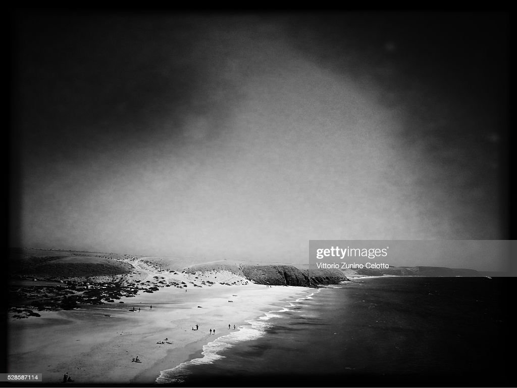 A general view of Playa Mujeres on April 25, 2016 in Lanzarote, Spain.