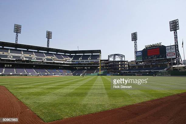 General view of PNC Park before the game between the Los Angeles Dodgers and the Pittsburgh Pirates on May 9 2004 in Pittsburgh Pennsylvania The...