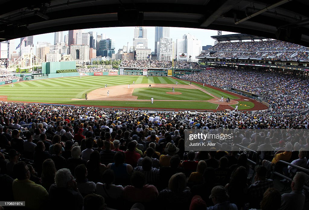 A general view of PNC Park during the game between the Pittsburgh Pirates and the Los Angeles Dodgers on June 15, 2013 at PNC Park in Pittsburgh, Pennsylvania. The Dodgers defeated the Pirates 5-3.