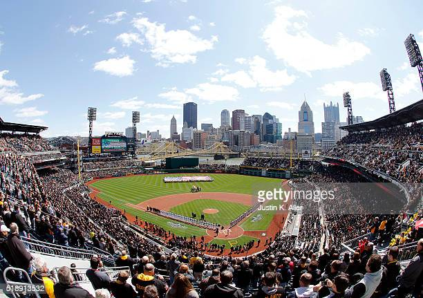 A general view of PNC Parking during opening day between the Pittsburgh Pirates and the St Louis Cardinals at PNC Park on April 3 2016 in Pittsburgh...