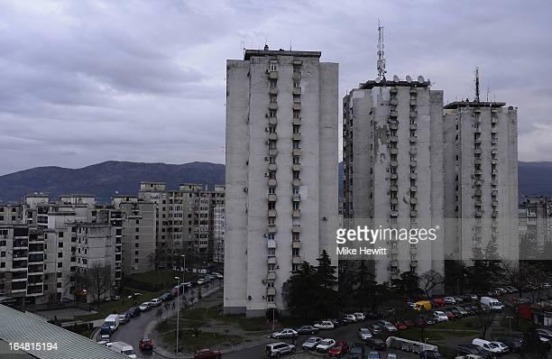 General view of Podgorica on March 25 2013 in Podgrorica Montenegro