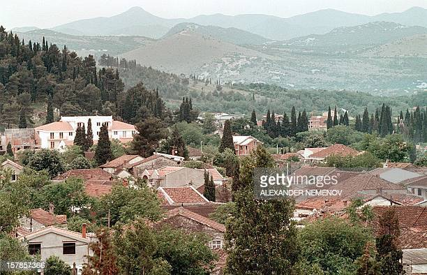 General view of Podgorica the capital of Montenegro 17 May 1999