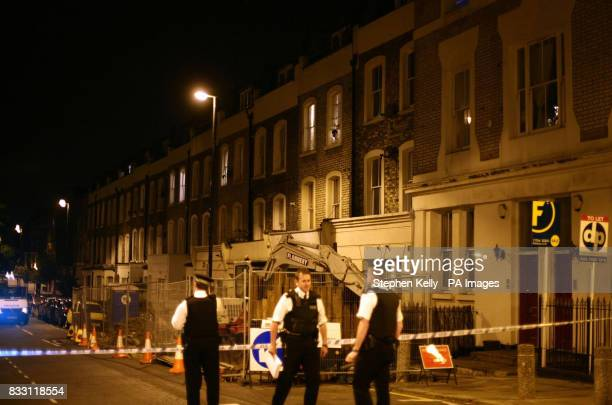 A general view of police activity in north London after a teenager was stabbed to death in the latest in a string of youth killings