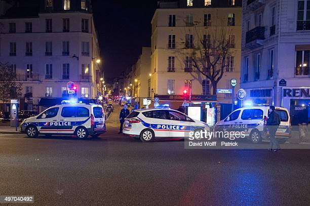 A general view of police at the scene on Boulevard Beaumarchais following a shooting on November 13 2015 in Paris France 26 people have reportedly...
