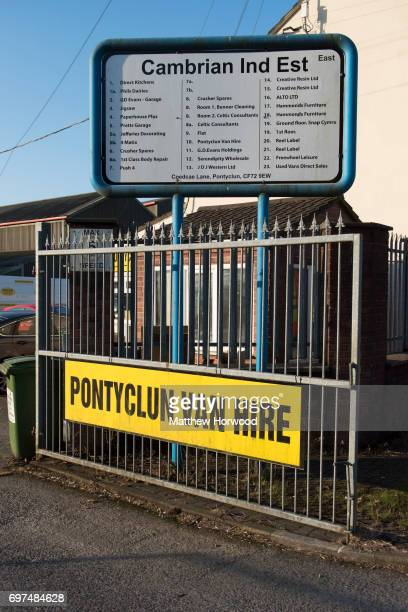 A general view of Pontyclun Van Hire at the East Side Cambrian Industrial Estate on June 19 2017 in Pontyclun Wales A van that appears to have been...