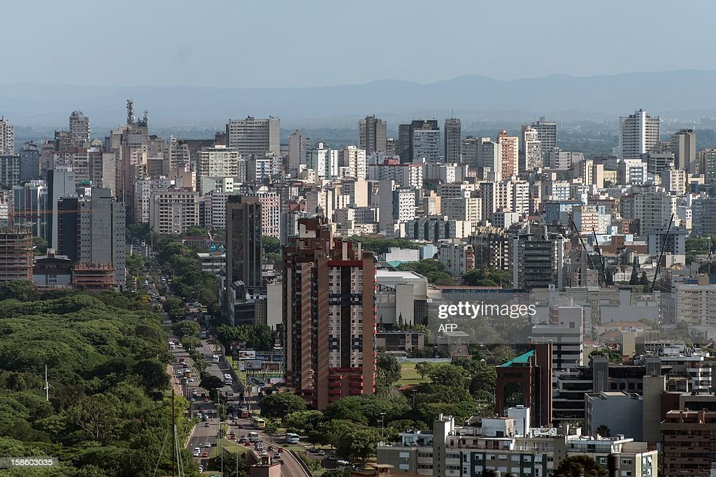 A general view of Porto Alegre, southern Brazil, on December 20, 2012. The city will host five World Cup matches in first and second round in 2014 at Beira-Rio stadium. AFP PHOTO/Yasuyoshi CHIBA