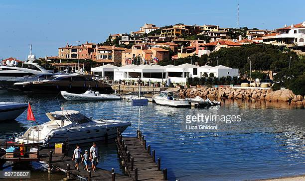 A general view of Porto Cervo on August 4 2009 in Porto Cervo Italy