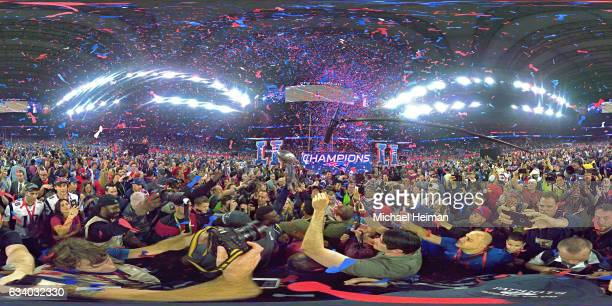 A general view of post game after the New England Patriots defeated the Atlanta Falcons 3428 in overtime during Super Bowl 51 at NRG Stadium on...