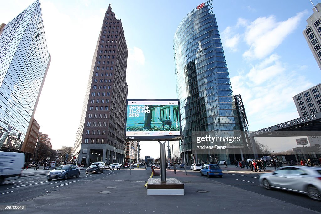 A general view of Potsdamer Platz during the 66th Berlinale International Film Festival on February 12, 2016 in Berlin, Germany.