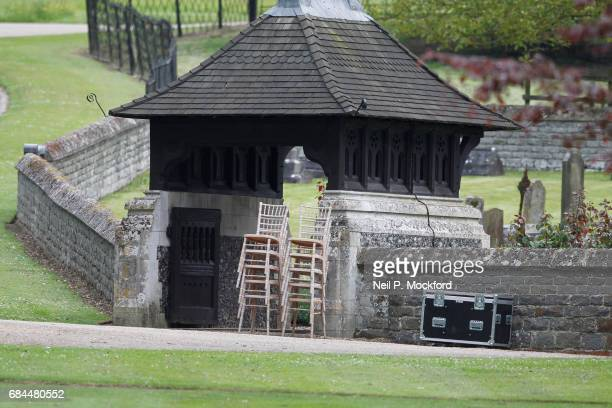 General View of preparations around St Mark's Church in Englefield where Pippa Middleton and James Matthew are planning on getting married on May 18...