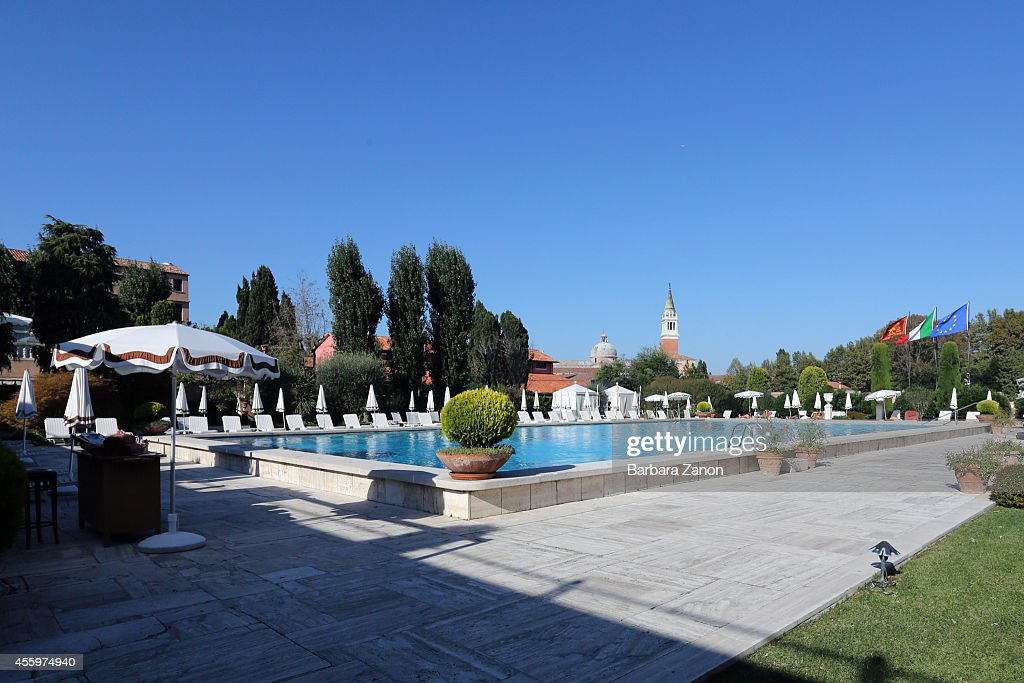 General view of private swimming pool at the Belmond Cipriani Hotel at Giudecca Island on September 23, 2014 in Venice, Italy. George Clooney is set to marry his lawyer fiancee Amal Alamuddin this weekend in Venice where they met after it was previously thought they would marry on Lake Como where the actor has a home.