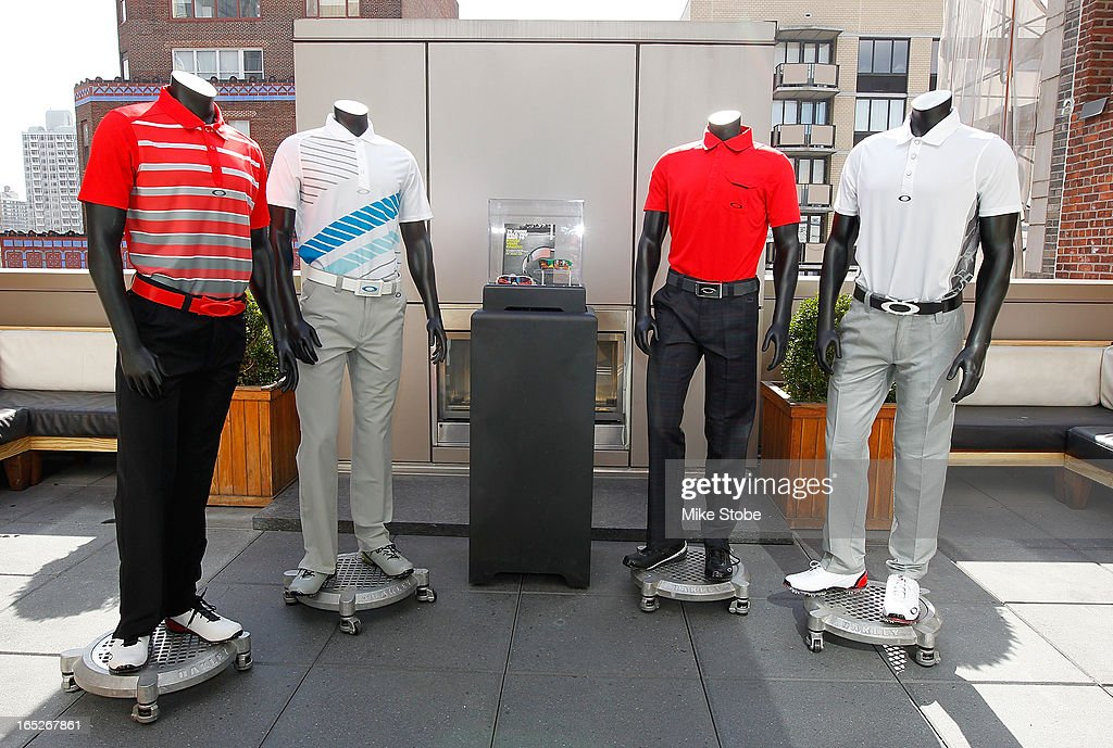 A general view of Pro Golfer <a gi-track='captionPersonalityLinkClicked' href=/galleries/search?phrase=Bubba+Watson&family=editorial&specificpeople=597658 ng-click='$event.stopPropagation()'>Bubba Watson</a>'s full Master's scripting prior to the Oakley Global Media Event at Gansevoort Park Avenue hotel on April 2, 2013 in New York City.