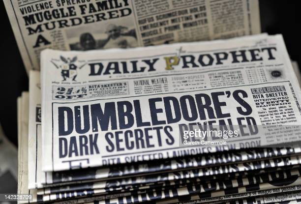 A general view of props used on the set of Harry Potter at the Warner Bros Studio Tour London The Making of Harry Potter at Leavesden Studios on...