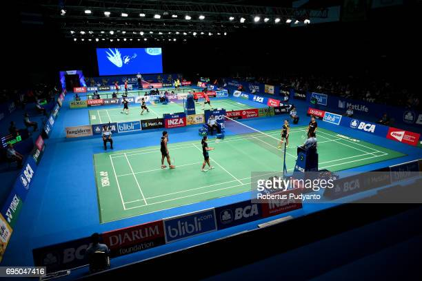 General view of qualification round match during the BCA Indonesia Open Super Series Premier 2017 at Plenary Hall Jakarta Convention Centre on June...