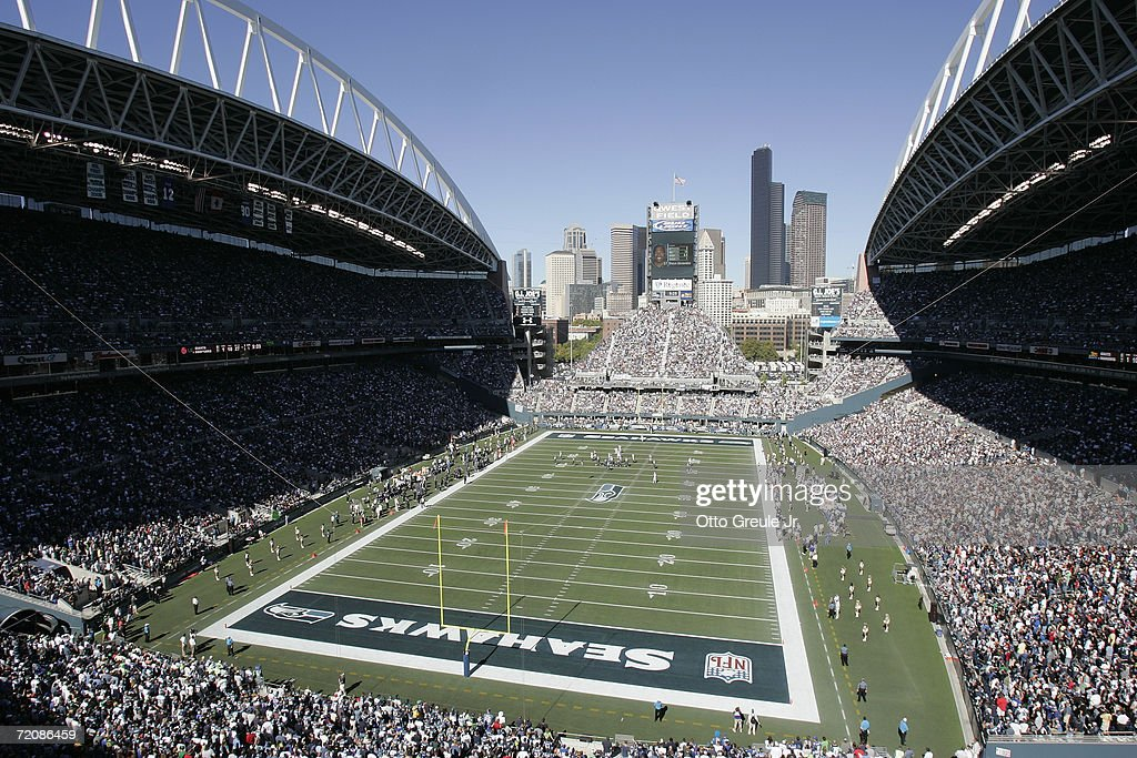 General view of Qwest Field during the NFL game between the Seattle Seahawks and the New York Giants on September 24 2006 in Seattle Washington The...