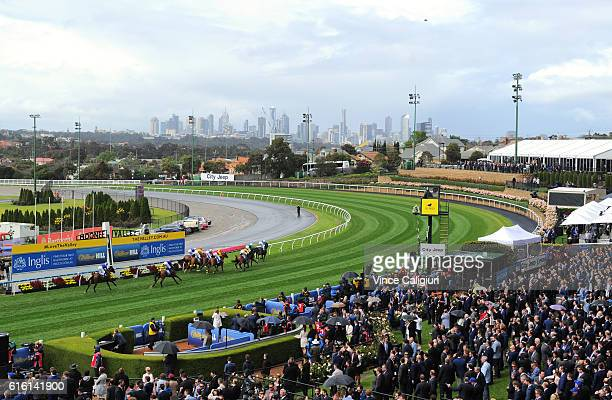 General view of Race 1 during Cox Plate Day at Moonee Valley Racecourse on October 22 2016 in Melbourne Australia