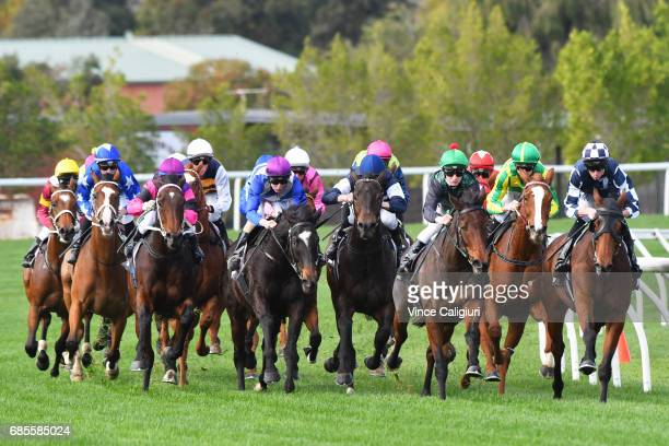 General view of Race 3 John JJ Miller Hall of Fame Trophy during Melbourne Racing at Flemington Racecourse on May 20 2017 in Melbourne Australia
