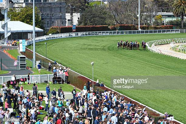 General view of Race 4 Inglis Cup during Melbourne Racing at Caulfield Racecourse on September 24 2016 in Melbourne Australia