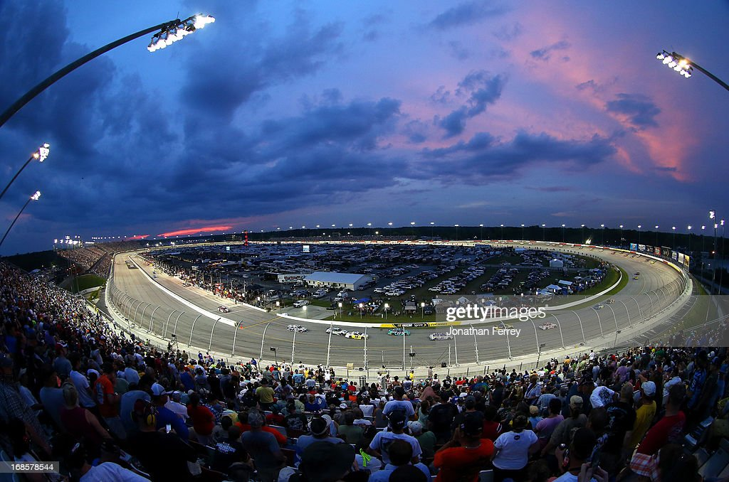 A general view of race action during the NASCAR Sprint Cup Series Bojangles' Southern 500 at Darlington Raceway on May 11, 2013 in Darlington, South Carolina.