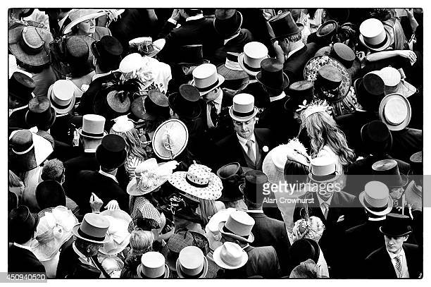 A general view of race goers during day four of Royal Ascot 2014 at Ascot Racecourse on June 20 2014 in Ascot England