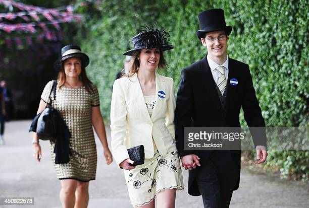 A general view of racegoers during day four of Royal Ascot 2014 at Ascot Racecourse on June 20 2014 in Ascot England
