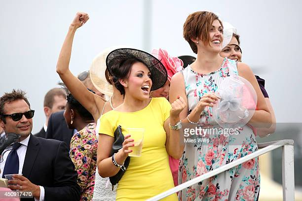 A general view of racegoers during day three of Royal Ascot at Ascot Racecourse on June 19 2014 in Ascot England