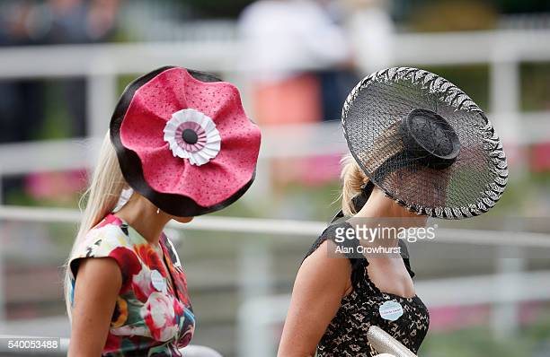 A general view of racegoers in hats on Day 1 of Royal Ascot at Ascot Racecourse on June 14 2016 in Ascot England l