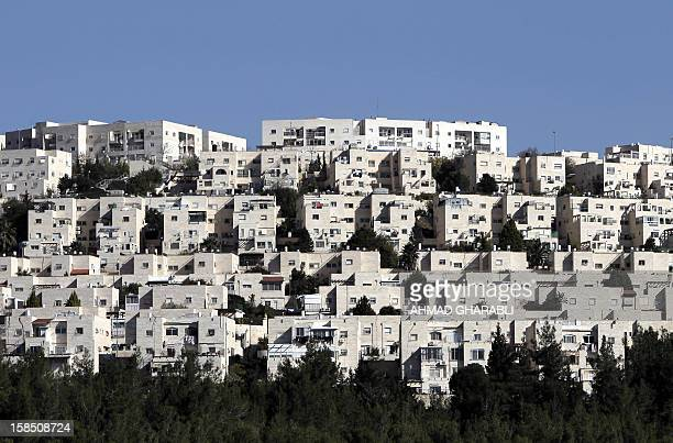 A general view of Ramat Shlomo a Jewish settlement in the mainly Palestinian eastern sector of Jerusalem seen on December 18 2012 Israeli planning...