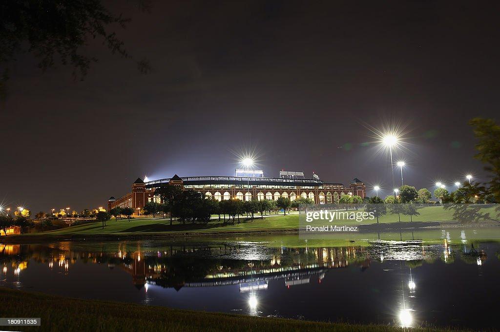 A general view of Rangers Ballpark in Arlington on September 15 2013 in Arlington Texas