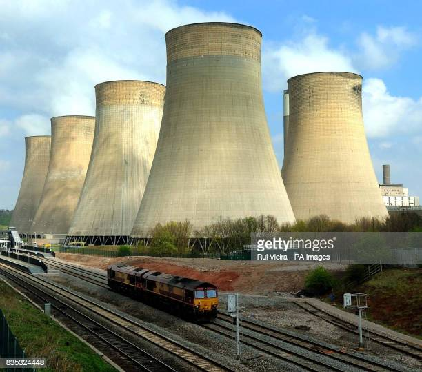 A general view of RatcliffeonSoar power station Nottingham after more than 100 people were arrested for allegedly planning a protest at the coalfired...