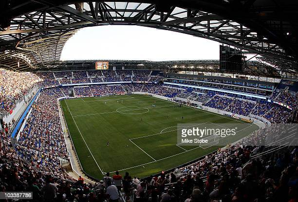 A general view of Red Bull Arena during the match between the New York Red Bulls and the Los Angeles Galaxy on August 14 2010 at Red Bull Arena in...