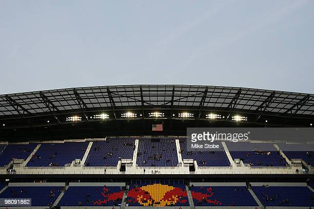 A general view of Red Bull Arena on March 27 2010 at Red Bull Arena in Harrison New Jersey
