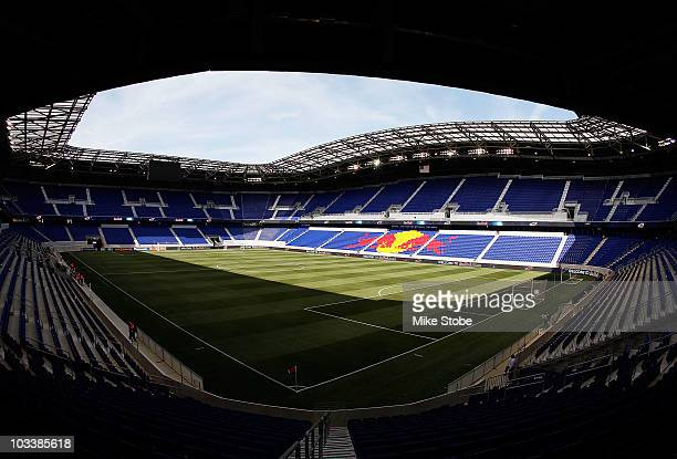 A general view of Red Bull Arena prior to the match between the New York Red Bulls and the Los Angeles Galaxy on August 14 2010 at Red Bull Arena in...
