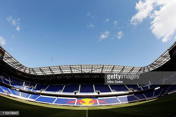 A general view of Red Bull Arena prior to the match between the New York Red Bulls and the Seattle Sounders FC on March 19 2011 at Red Bull Arena in...