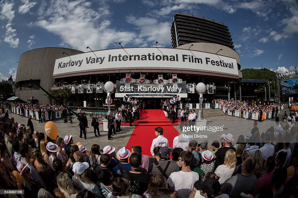 A general view of red carpet before the opening ceremony of the opening ceremony of the 51st Karlovy Vary International Film Festival (KVIFF) on July 1, 2016 in Karlovy Vary, Czech Republic.