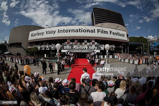 A general view of red carpet before the opening ceremony of the opening ceremony of the 51st Karlovy Vary International Film Festival on July 1 2016...