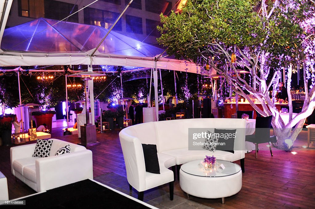 General View of Red Light Management Grammy After Party at Mondrian Los Angeles on February 10, 2013 in West Hollywood, California.
