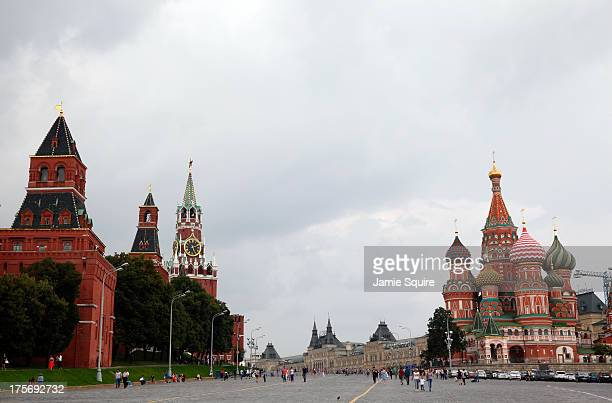 A general view of Red Square ahead of the 14th IAAF World Athletics Championships on August 6 2013 in Moscow Russia