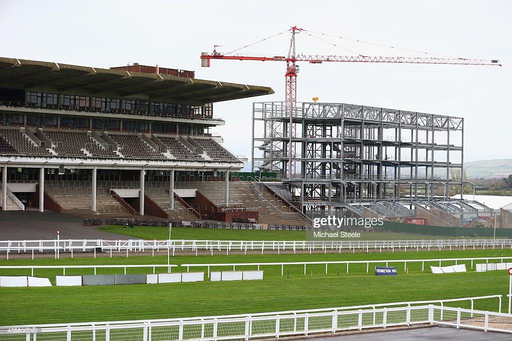 General view of redevelopments at Cheltenham Racecourse on November 11 2014 in Cheltenham England